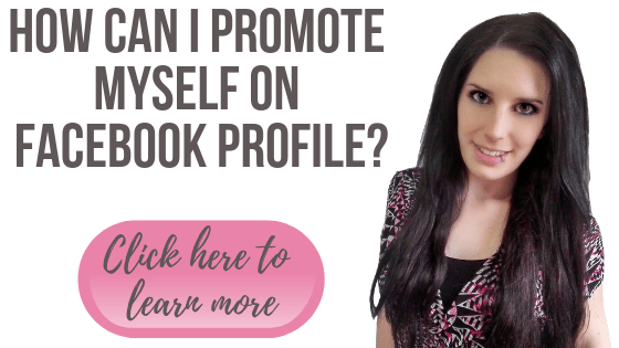 How can I promote myself on Facebook Profile?