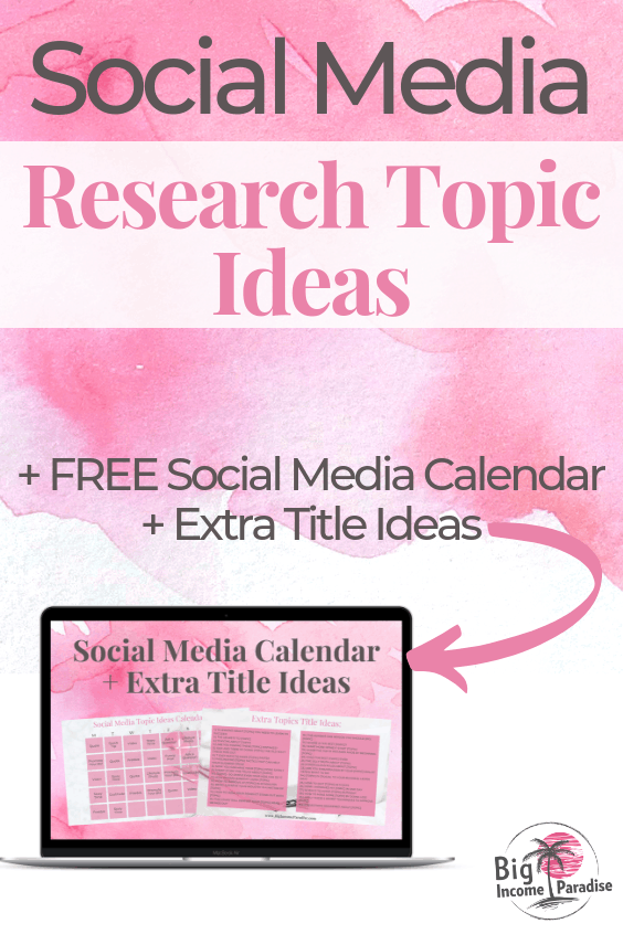 If you're struggling with what to post on Social Media daily, then this is the blog post for you. I shared 9 different places you can do your Social Media Research Topic Ideas and this will help you stay consistent in with your branding. Check out the blog post and Re-Pin this. #BigIncomeParadise #socialmediaresearch #socialmediatopics #whattopost #socialmediastrategy