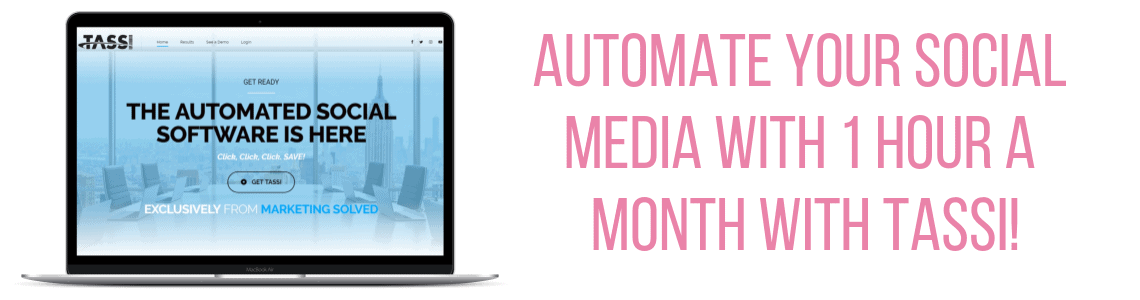TASSI - Automate your Social Media With 1 Hour a Month!