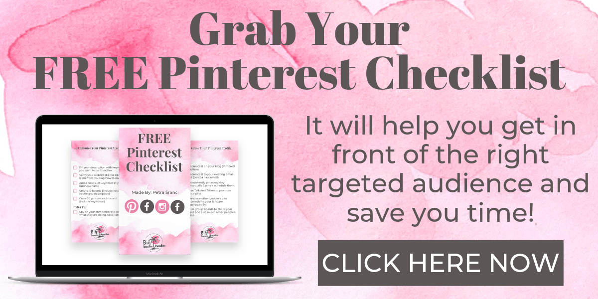 Grab your FREE Pinterest Checklist Here!