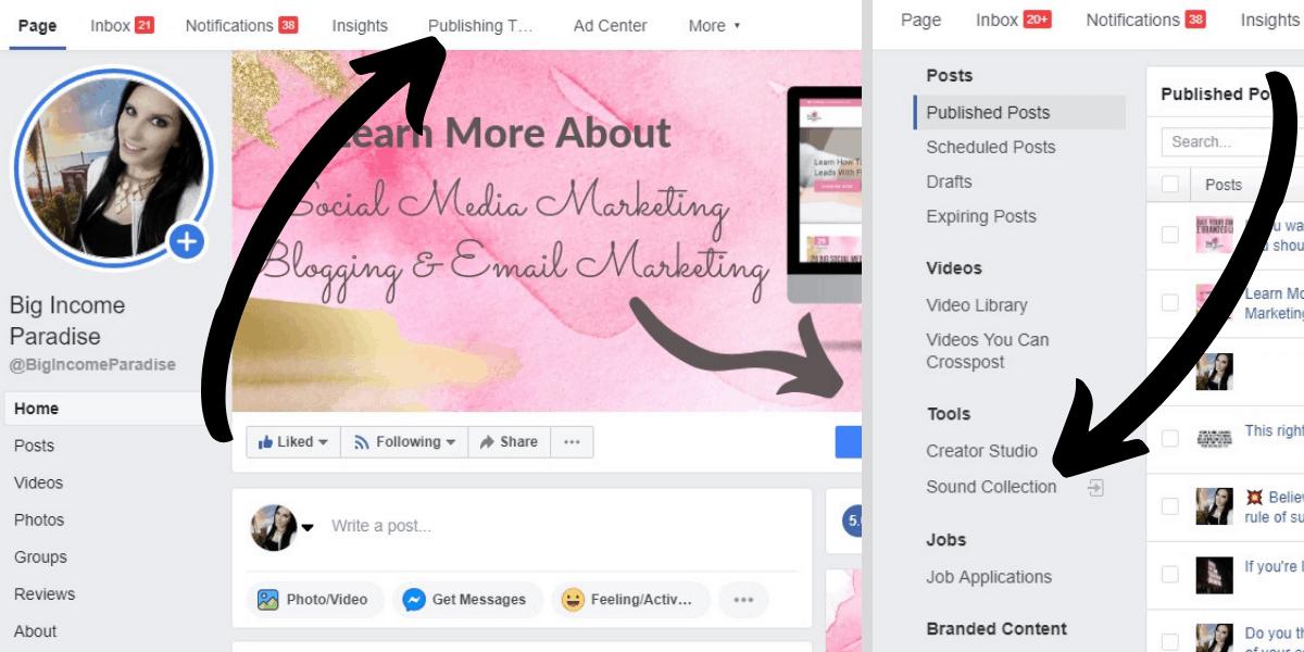 Facebook Features - Facebook Sound Collection