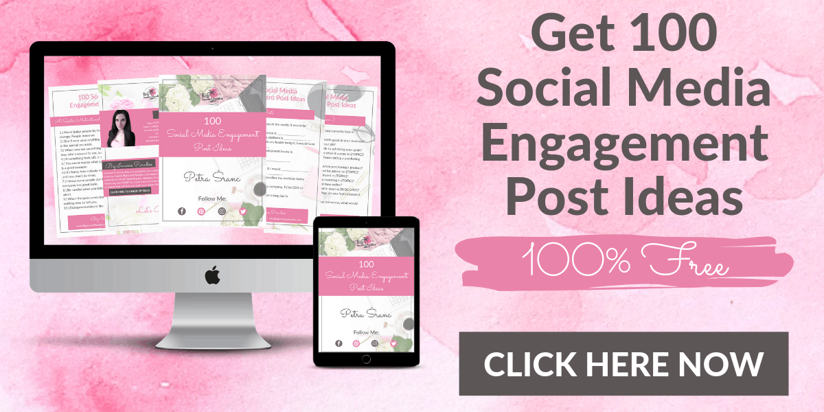 Get 100 Social Media Engagement Post Ideas - 100% *FREE*. You will never run out of social media content ideas again! These Social Media post ideas will SKYROCKET your engagement and connect you with your audience on a deeper level.