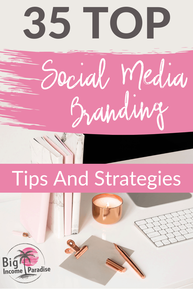 Social Media Branding is really important if you want to grow your online business fast. You have to include the right social media branding graphics, logo, colors and fonts. But there is more to branding. So learn all about it from my blog post where I share TOP 35 Social Media Branding Tips and Strategies. #BigIncomeParadise #socialmediabranding #socialmediabrandingtip #socialmediabrandingstrategy #socialmediamarketing #personalbranding #selfbranding
