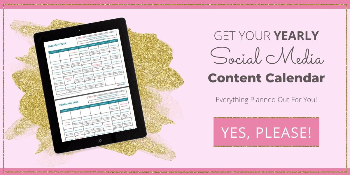 yearly social media content calendar