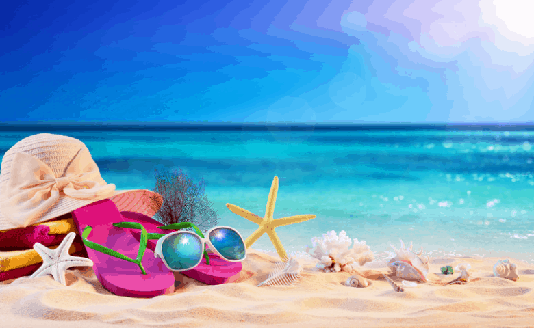 Sea-shells-sunglasses-on-the-beach-summer-marketing-ideas