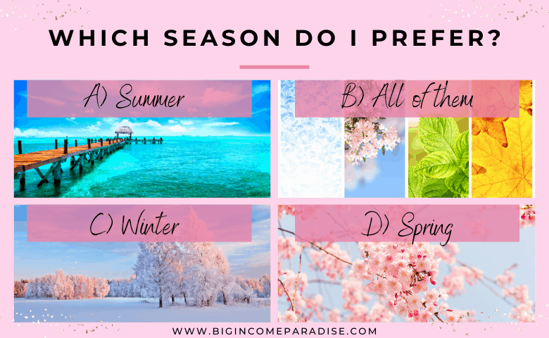 all seasons - spring, summer, fall, winter - poll questions