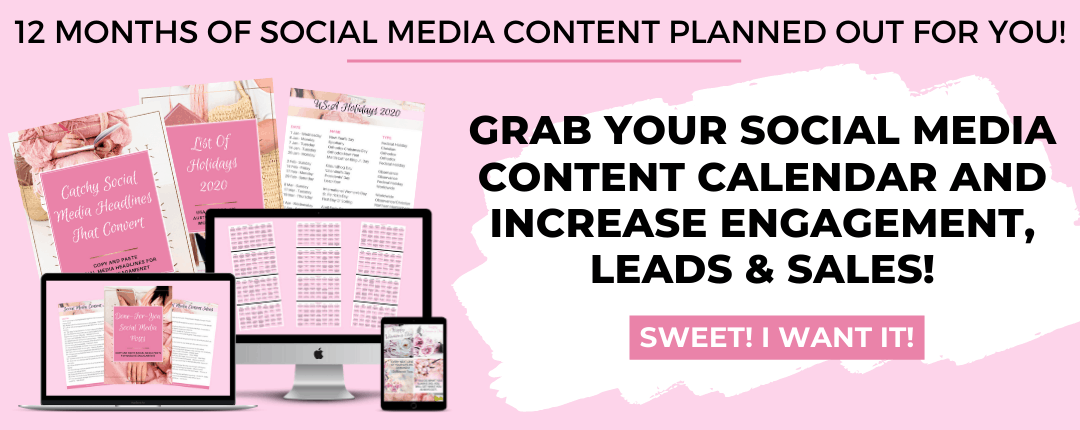 12 MONTHS OF SOCIAL MEDIA CONTENT PLANNED OUT FOR YOU! - By Big Income Paradise