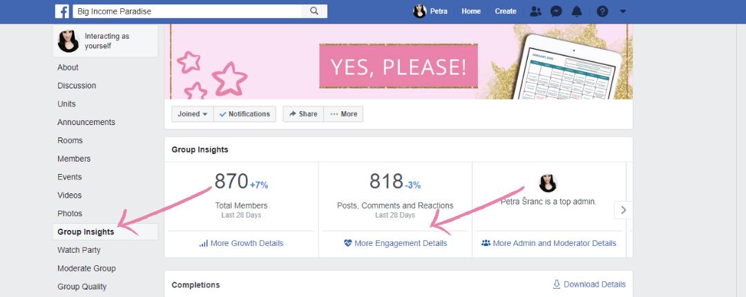 Facebook Group Insights For More Engagement Details