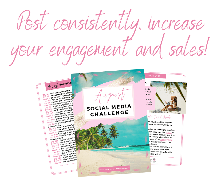 Post consistently, increase your engagement and sales!