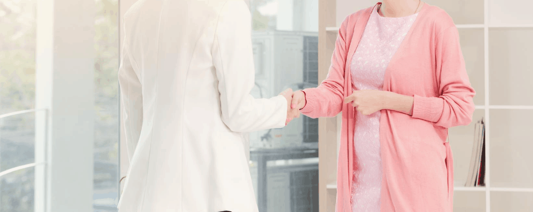 Two business women Shaking Hands working