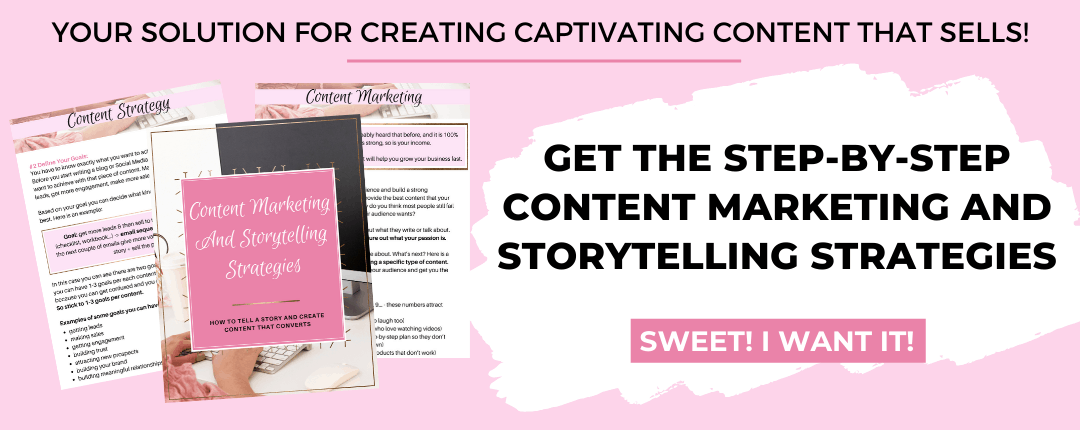 get the step-by-step Content Marketing And Storytelling Strategies - By Big Income Paradise