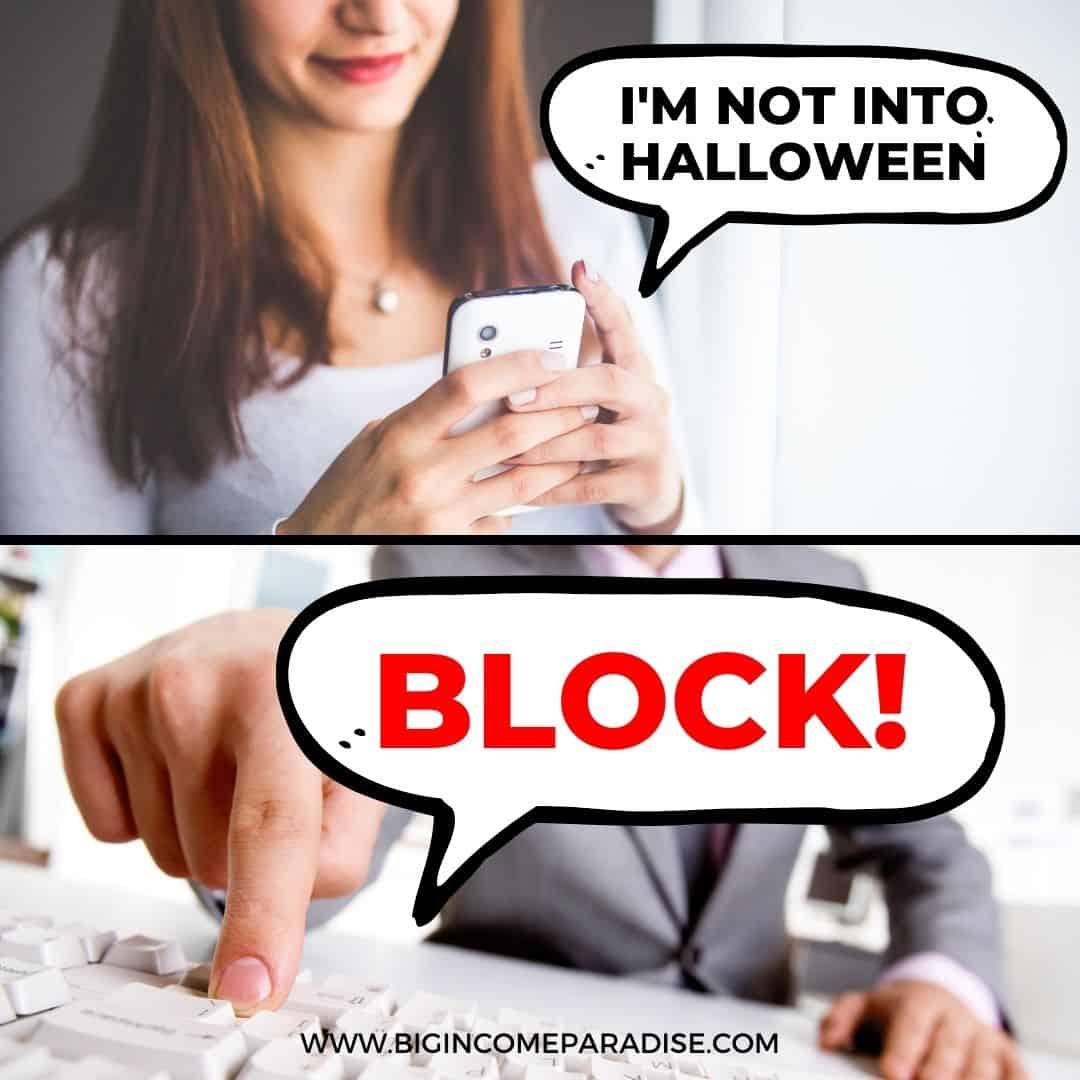 I'm not into halloween - block