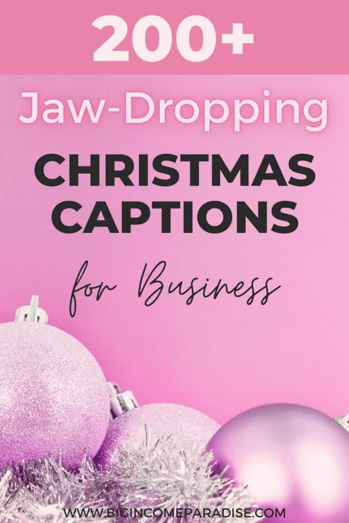 200+ Killer Christmas Captions For Your Business