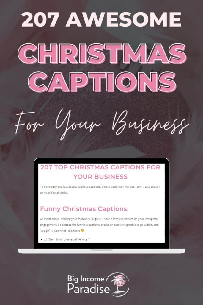 207 Killer Christmas Captions For Your Business