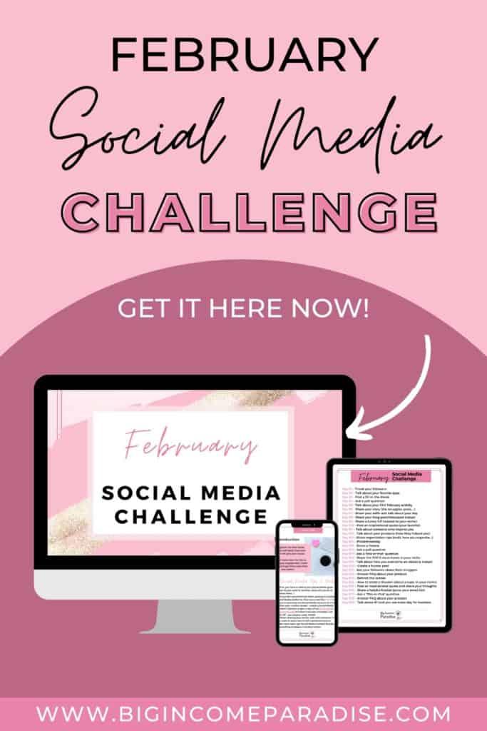 February Social Media Challenge. Social Media Content Ideas.