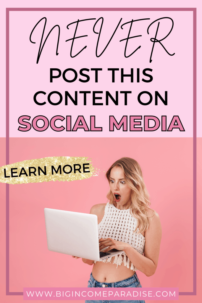 What Not To Post On Social Media. Social Media Content.