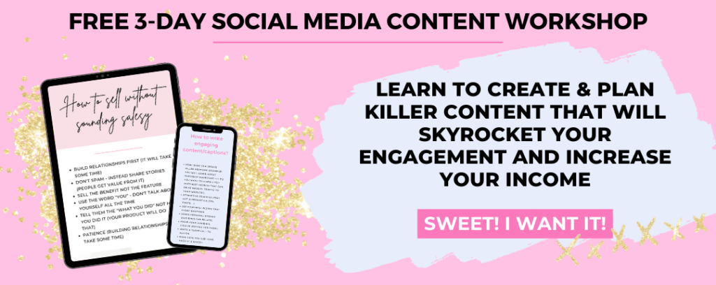free 3-day social media content workshop
