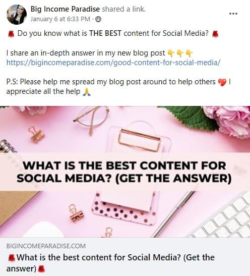 line breaks on social media posts