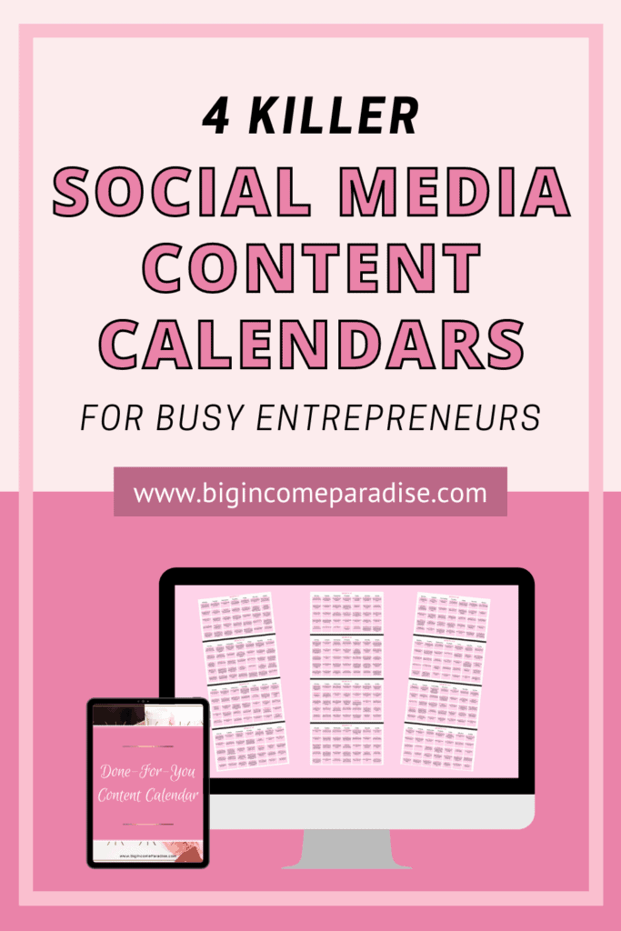 4 Killer Social Media Content Calendars For Busy Entrepreneurs