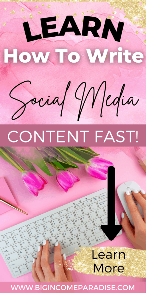 Learn How To Write Social Media Content Faster