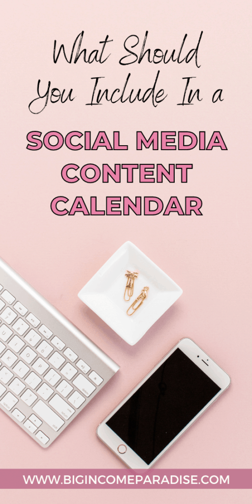 What Should You Include In A Social Media Content Calendar
