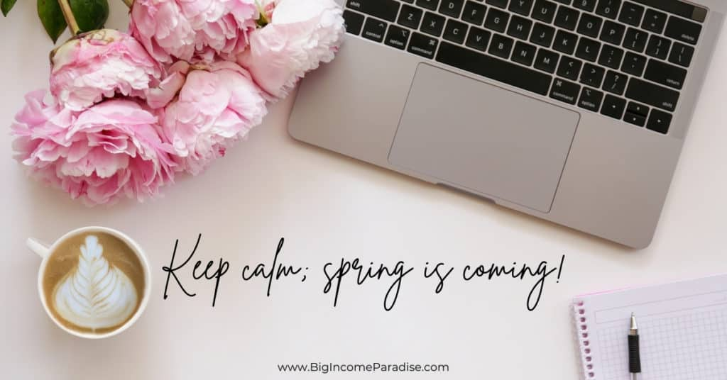 Funny Spring Captions - Keep calm; spring is coming!