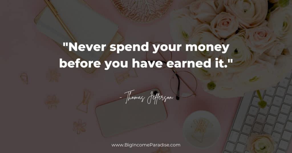 money - earn it