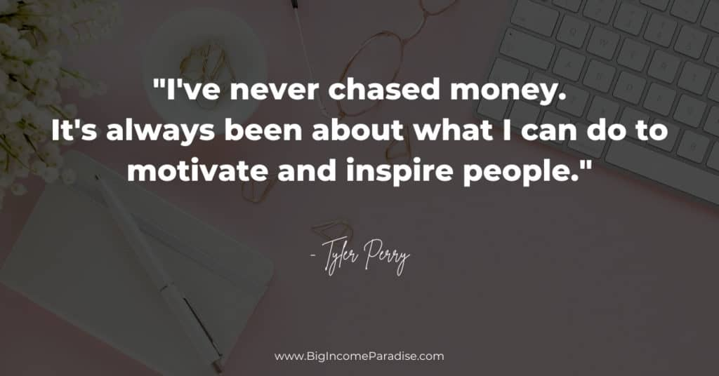 never-chase-money
